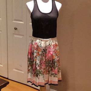 Dresses & Skirts - Pleated polyester floral skirt. Truly unique!